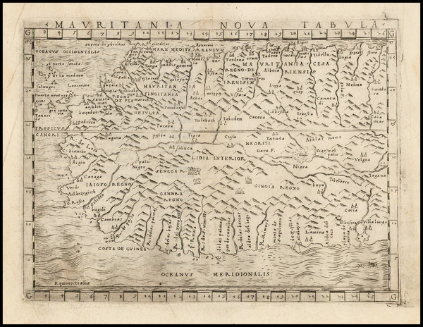 8-North Africa and West Africa Map By Giacomo Gastaldi