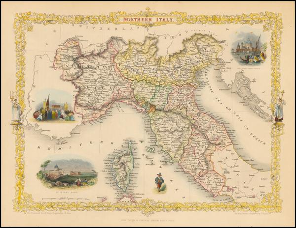 83-Italy Map By John Tallis