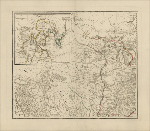 100-South, Southeast, Midwest, Plains, Rocky Mountains and Canada Map By Franz Anton Schraembl