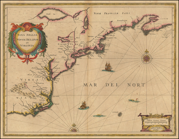 82-New England and Mid-Atlantic Map By Jan Jansson