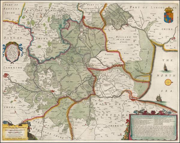 85-British Isles and British Counties Map By Henricus Hondius
