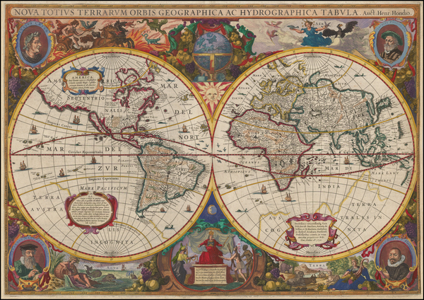 34-World Map By Henricus Hondius