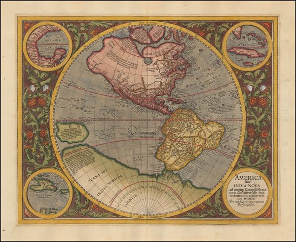 6-Western Hemisphere, South America and America Map By Michael Mercator