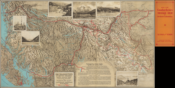 15-Alaska and Canada Map By Canadian National Railway