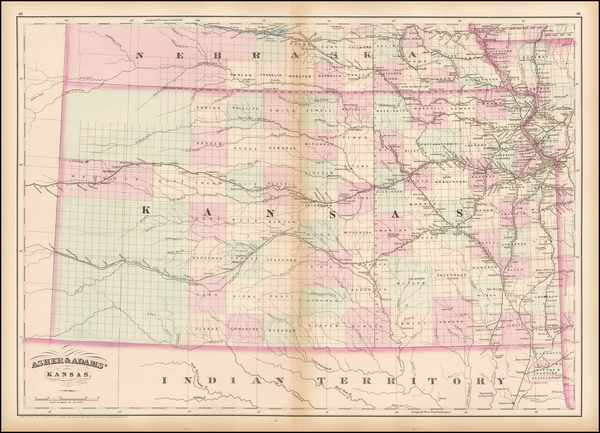 68-Midwest, Plains and Kansas Map By Asher  &  Adams