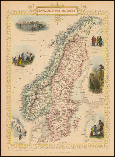 19-Scandinavia Map By John Tallis