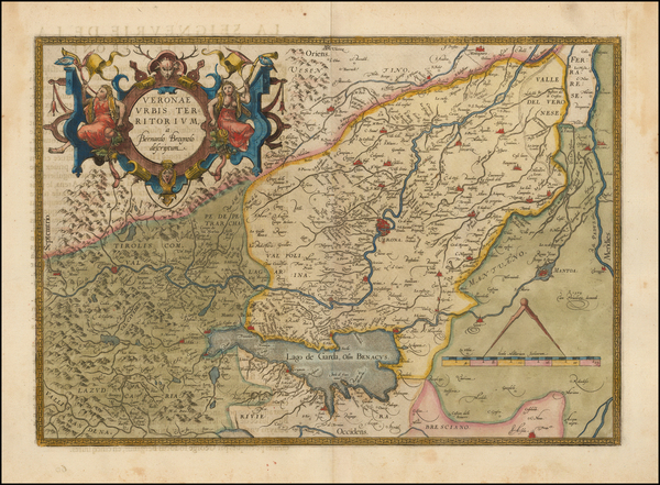 1-Northern Italy Map By Abraham Ortelius