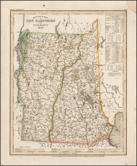 91-New Hampshire and Vermont Map By Joseph Meyer