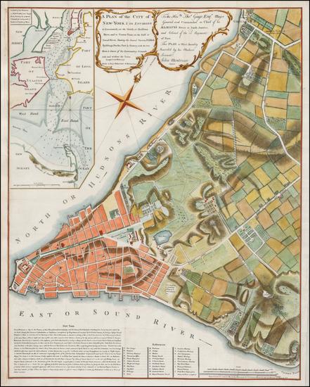 49-New York City Map By Valentine's Manual / John Montresor