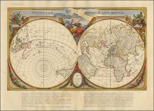 13-World, World, Northern Hemisphere and Southern Hemisphere Map By Giovanni Antonio Remondini