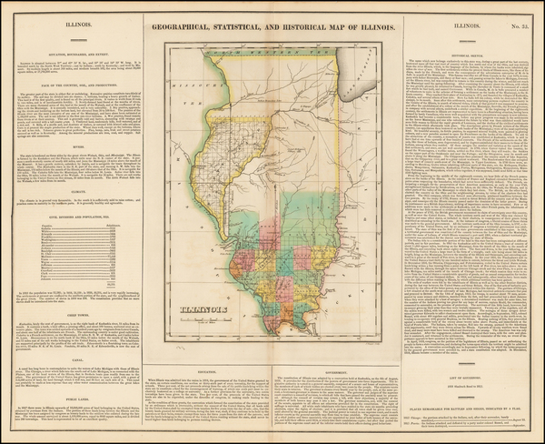 21-Midwest and Illinois Map By Henry Charles Carey  &  Isaac Lea