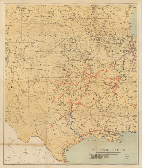 55-Texas, Midwest, Plains and Southwest Map By Anonymous
