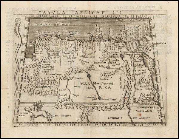 33-East Africa Map By Giacomo Gastaldi