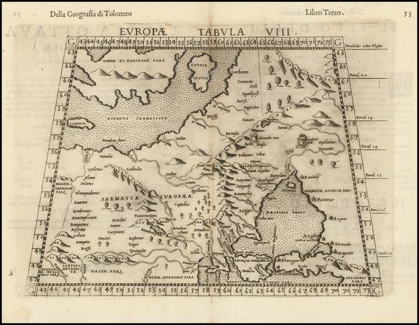 94-Russia, Baltic Countries and Scandinavia Map By Girolamo Ruscelli