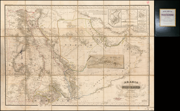 41-Middle East and Arabian Peninsula Map By Justus Perthes