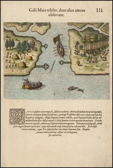 54-Southeast Map By Theodor De Bry