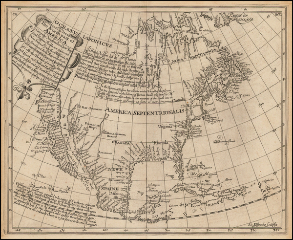 89-United States, Southeast, North America and California Map By Henry Briggs