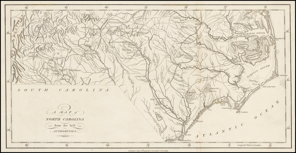 28-North Carolina Map By John Stockdale