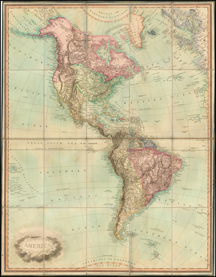 50-South America and America Map By James Whittle  &  Robert Laurie