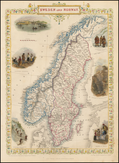 93-Scandinavia Map By John Tallis