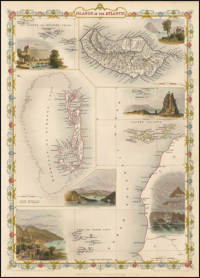 33-Caribbean, African Islands, including Madagascar and Pacific Map By John Tallis