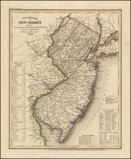 96-New Jersey Map By Joseph Meyer