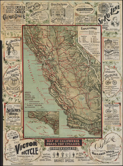 100-Pictorial Maps and California Map By George W. Blum