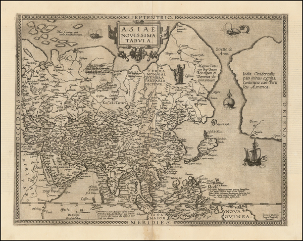 68-Asia, Asia and Philippines Map By Gerard de Jode