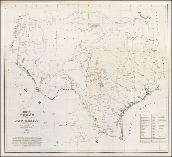 95-Texas, Oklahoma & Indian Territory and New Mexico Map By United States Bureau of Topographi