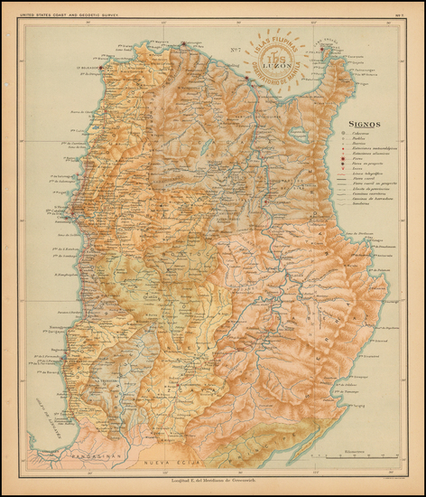 79-Philippines Map By Hoen & Co.
