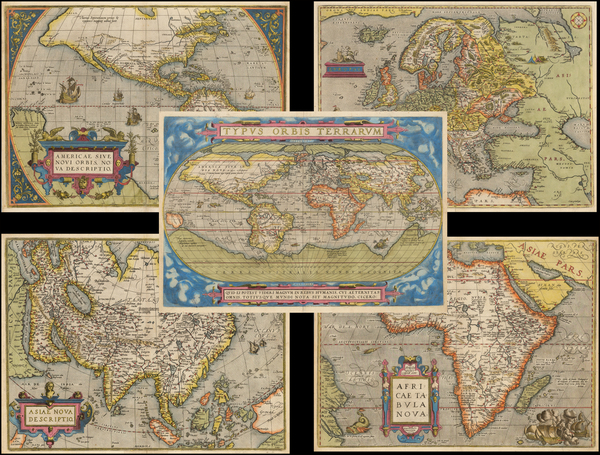 6-World, World, South America, Europe, Europe, Asia, Asia, Africa, Africa and America Map By Abra