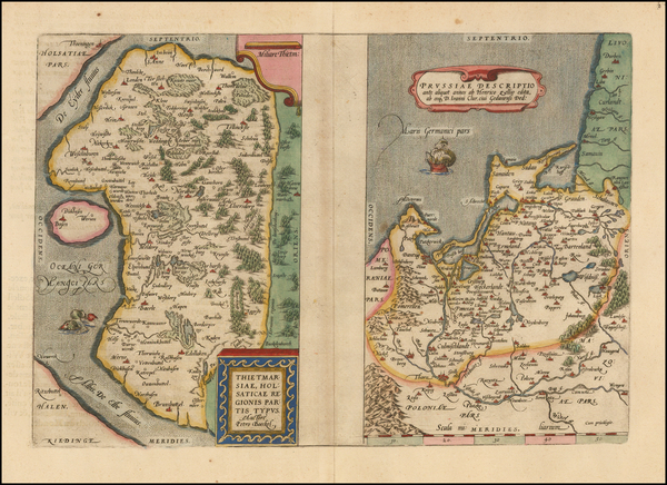 91-Germany, Poland and Baltic Countries Map By Abraham Ortelius