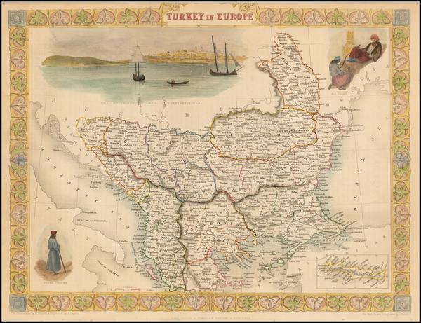 54-Balkans, Turkey, Balearic Islands and Greece Map By John Tallis