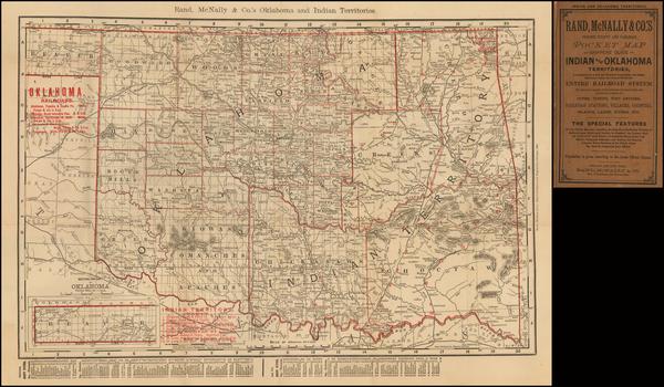 42-Plains and Oklahoma & Indian Territory Map By Rand McNally & Company