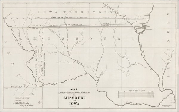 73-Plains, Iowa and Missouri Map By U.S. Government