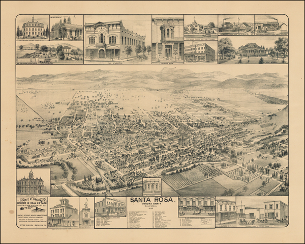 58-Other California Cities Map By W.W. Elliott & Co.