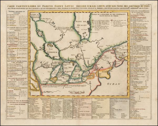 12-Midwest, Plains and Canada Map By Henri Chatelain