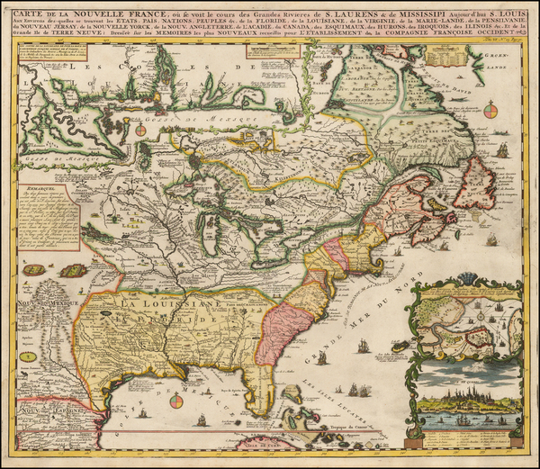 34-United States, Mid-Atlantic, South, Southeast, Midwest, Plains, North America and Canada Map By