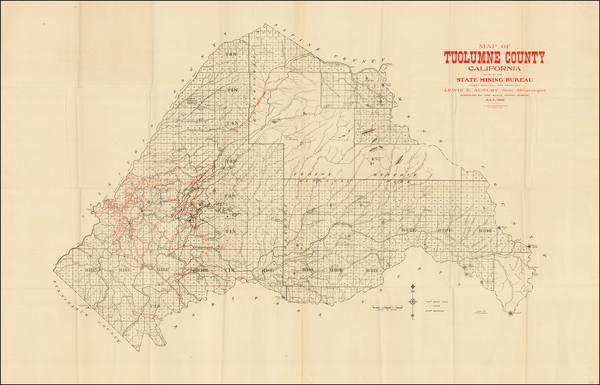 California Map By California State Mining Bureau