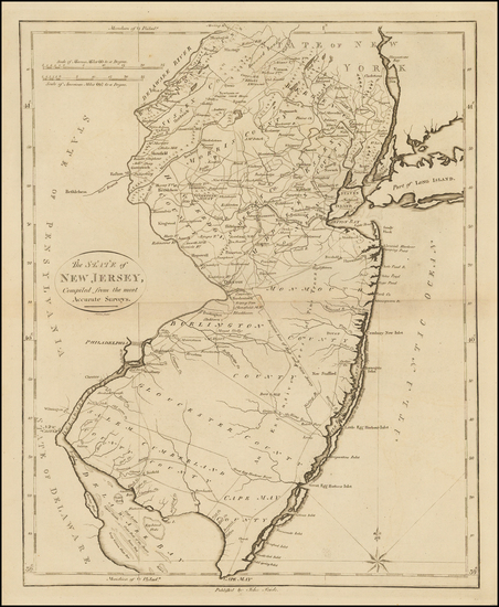 71-New Jersey Map By John Reid