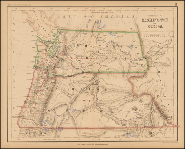100-Rocky Mountains and Oregon Map By Henry Darwin Rogers  &  Alexander Keith Johnston