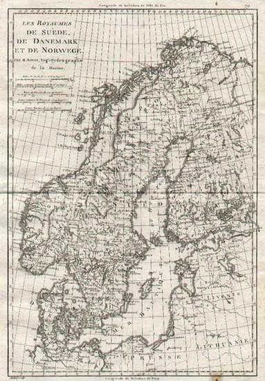 84-Europe and Scandinavia Map By Rigobert Bonne