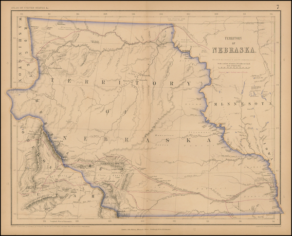 43-Plains, Nebraska, North Dakota, South Dakota and Rocky Mountains Map By Henry Darwin Rogers  &a