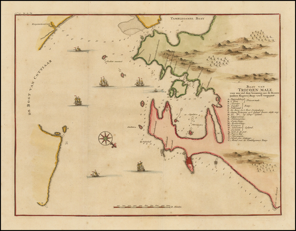 India & Sri Lanka and Other Islands Map By Francois Valentijn