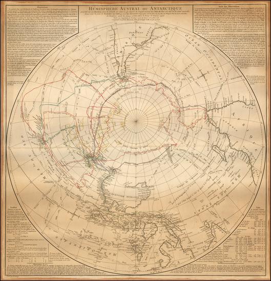80-Southern Hemisphere, Polar Maps, Australia & Oceania, Australia and Oceania Map By Didier R