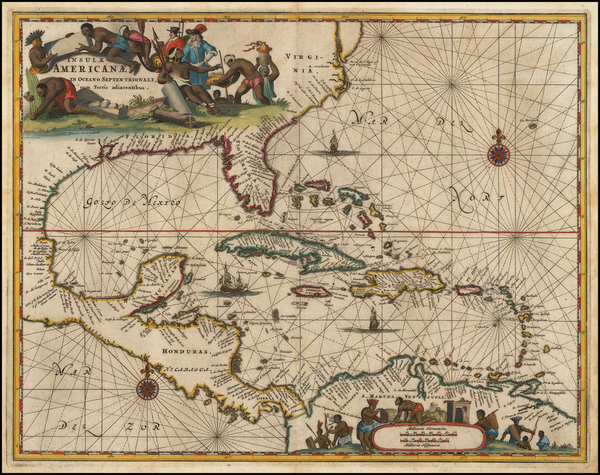11-South, Southeast, Caribbean and Central America Map By John Ogilby