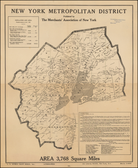 42- Map By Merchants Association of New York