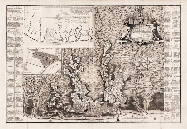 56-Guianas & Suriname Map By Alexander de Lavaux