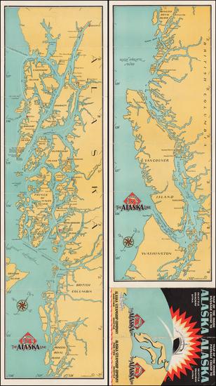 49-Washington and Alaska Map By Alaska Steam Ship Company