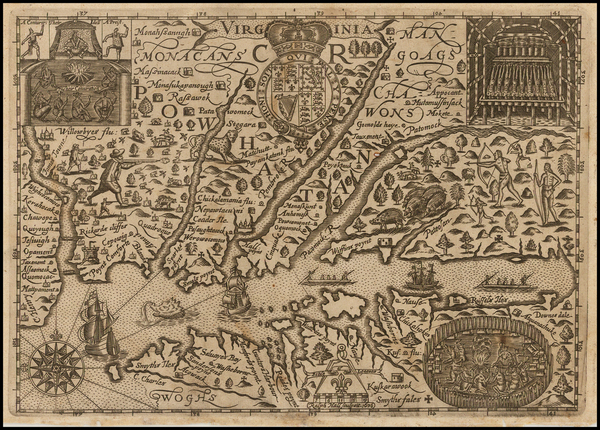 14-Mid-Atlantic, Southeast and Virginia Map By Ralph Hall